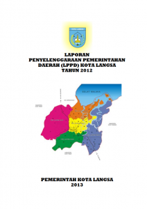 Lppd Bagian Pemerintahan Kota Langsa